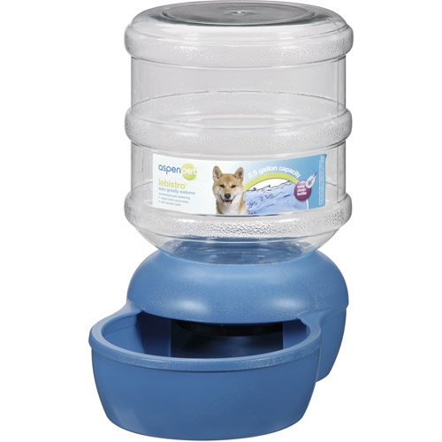 Aspen Pet LeBistro Auto Gravity 2.5 Gal Pet Waterer, Blue