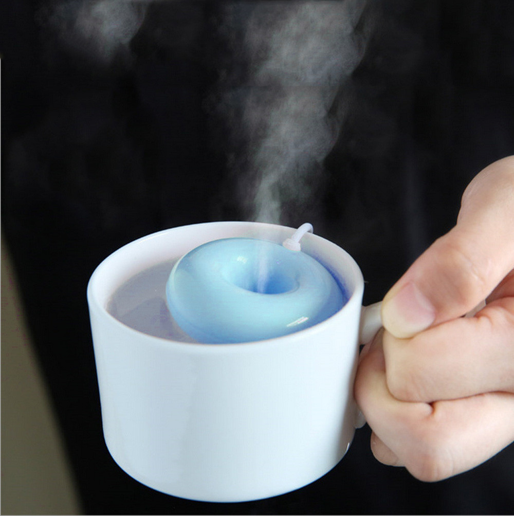 Home Office Mini USB Donuts Humidifier Floats On The Water Air Fresher