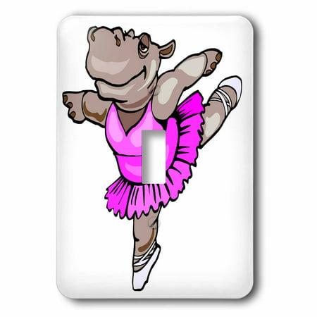 3dRose Hippo Ballet Dancer - Single Toggle Switch (lsp_48519_1) - Fantasia Hippo Ballet