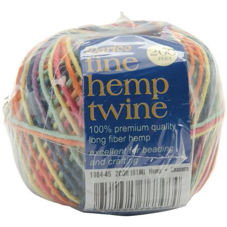 Fine Hemp Twine 200'-Rainbow (Organic Hemp Beading)
