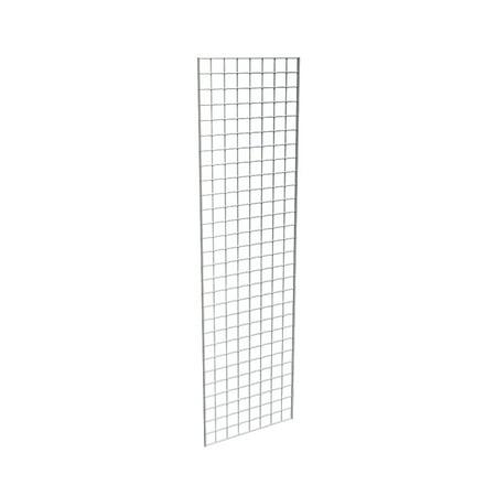 Econoco Chrome Grid Panel for Retail Display or Home Storage, 2' x 7' - 3 Grid Panels Per Carton
