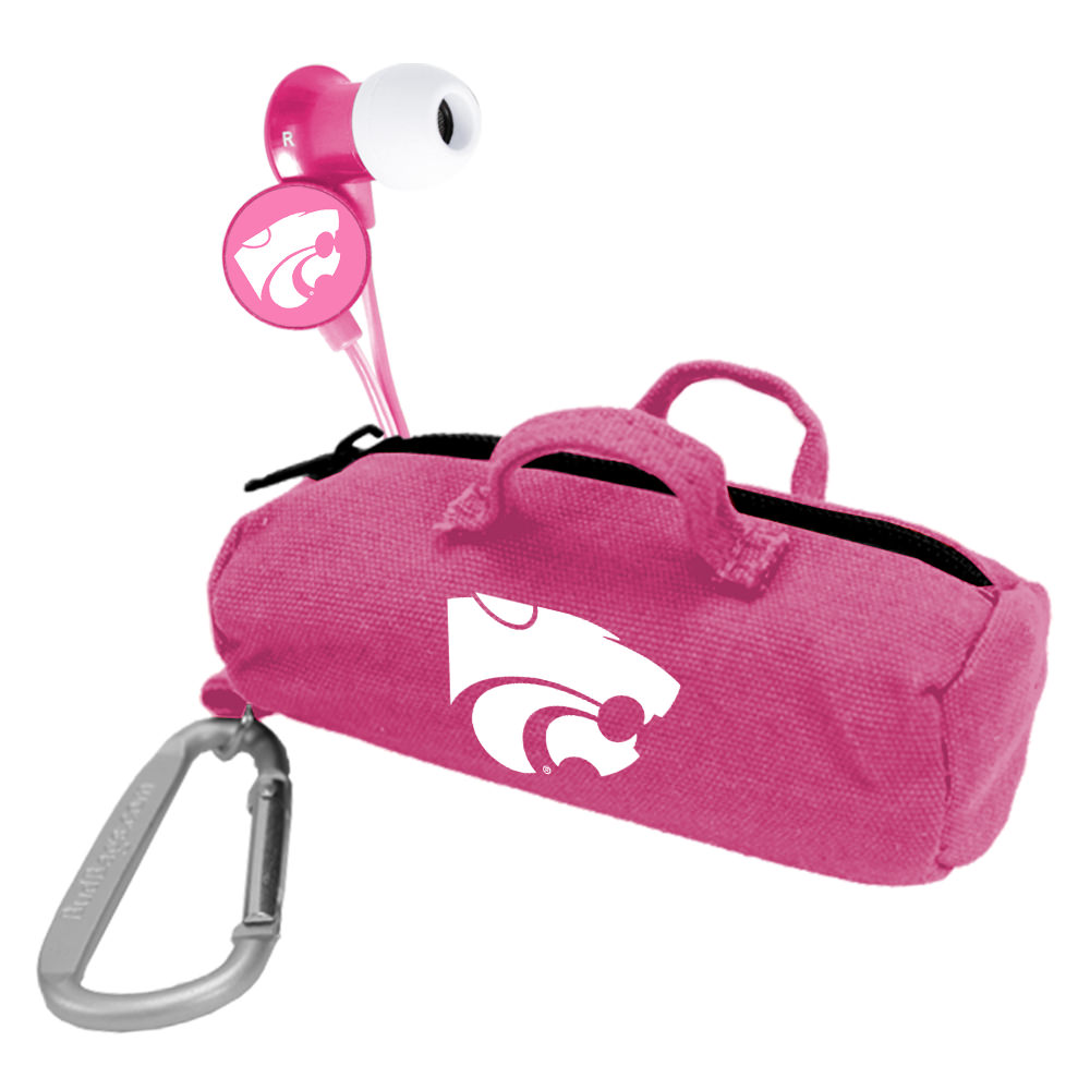 Kansas State Wildcats Pink Scorch Earbuds with BudBag