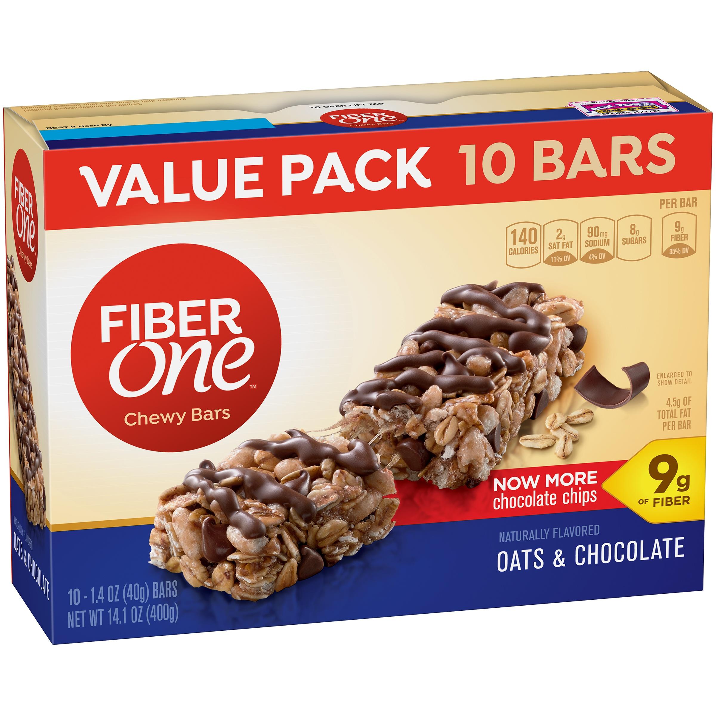 Fiber One Bar Oats and Chocolate 1.4 oz Bars 10 ct Box