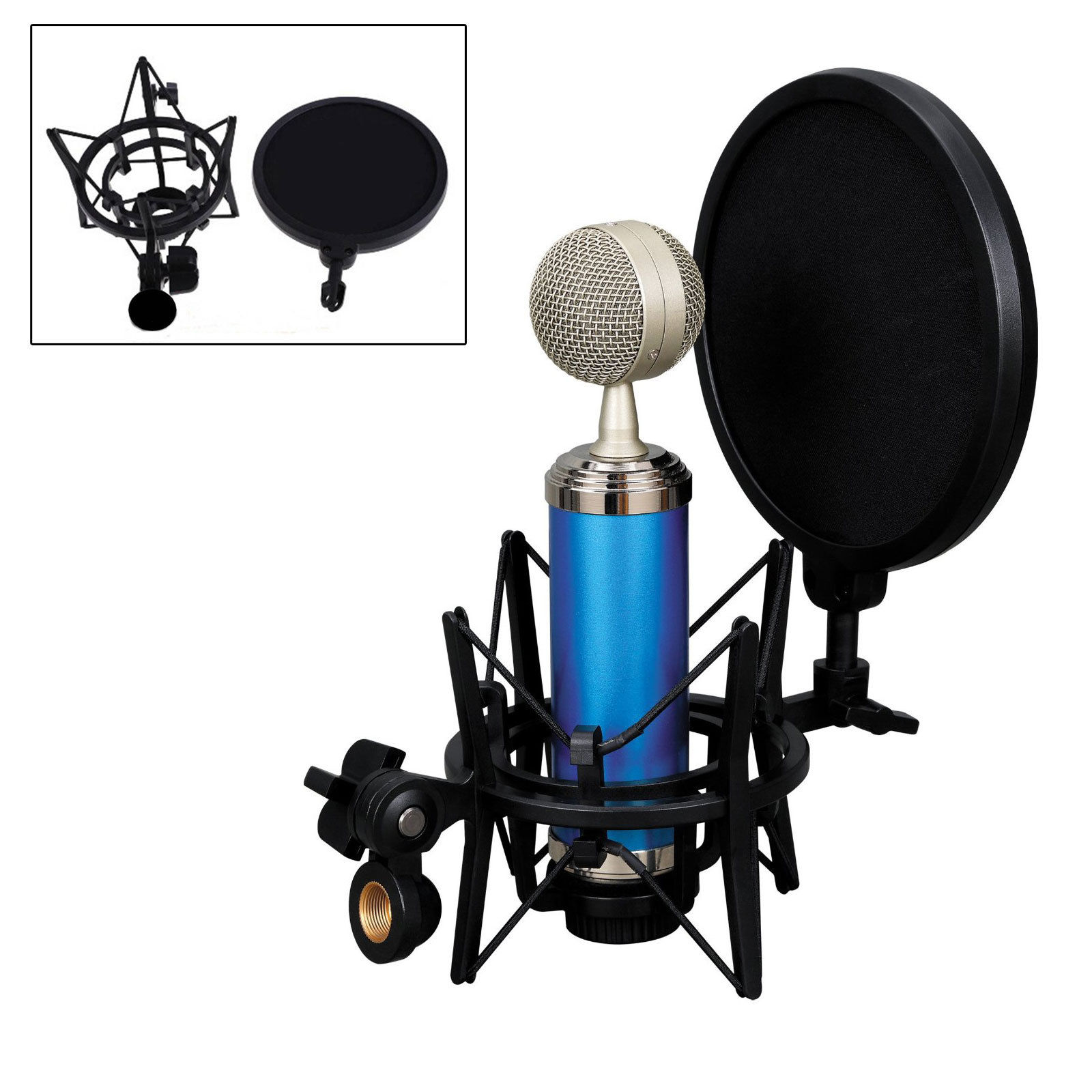 EEEKit Professional Audio Condenser Mic Studio Sound Recording Shock Microphone Mount