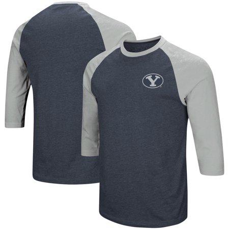 new style 9fc7e 31249 BYU Cougars Colosseum Raglan 3/4-Sleeve T-Shirt - Navy/Gray