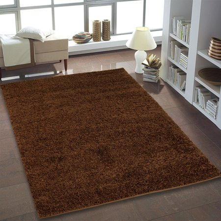 Ladole Rugs Shaggy Collection Soft Indoor Solid Area Rug