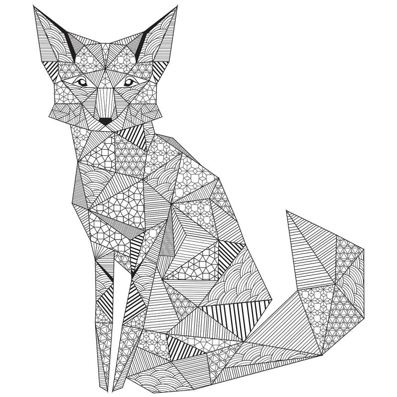 """New! Kaisercolour Coloring Poster 27""""x19""""-geo Fox - Case Pack Of 10"""