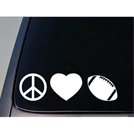 - Peace love Football sticker *H83* 8