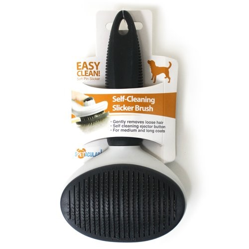 Spetacular Dog Self-Cleaning Slicker Brush, Large