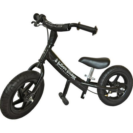 63f52b773e1 Glide Bikes EZee Glider Kid's Balance Bike (Black, 12-Inch) - Walmart.com
