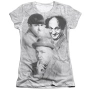 The Three Stooges Signature (Front Back Print) Juniors Sublimation Shirt