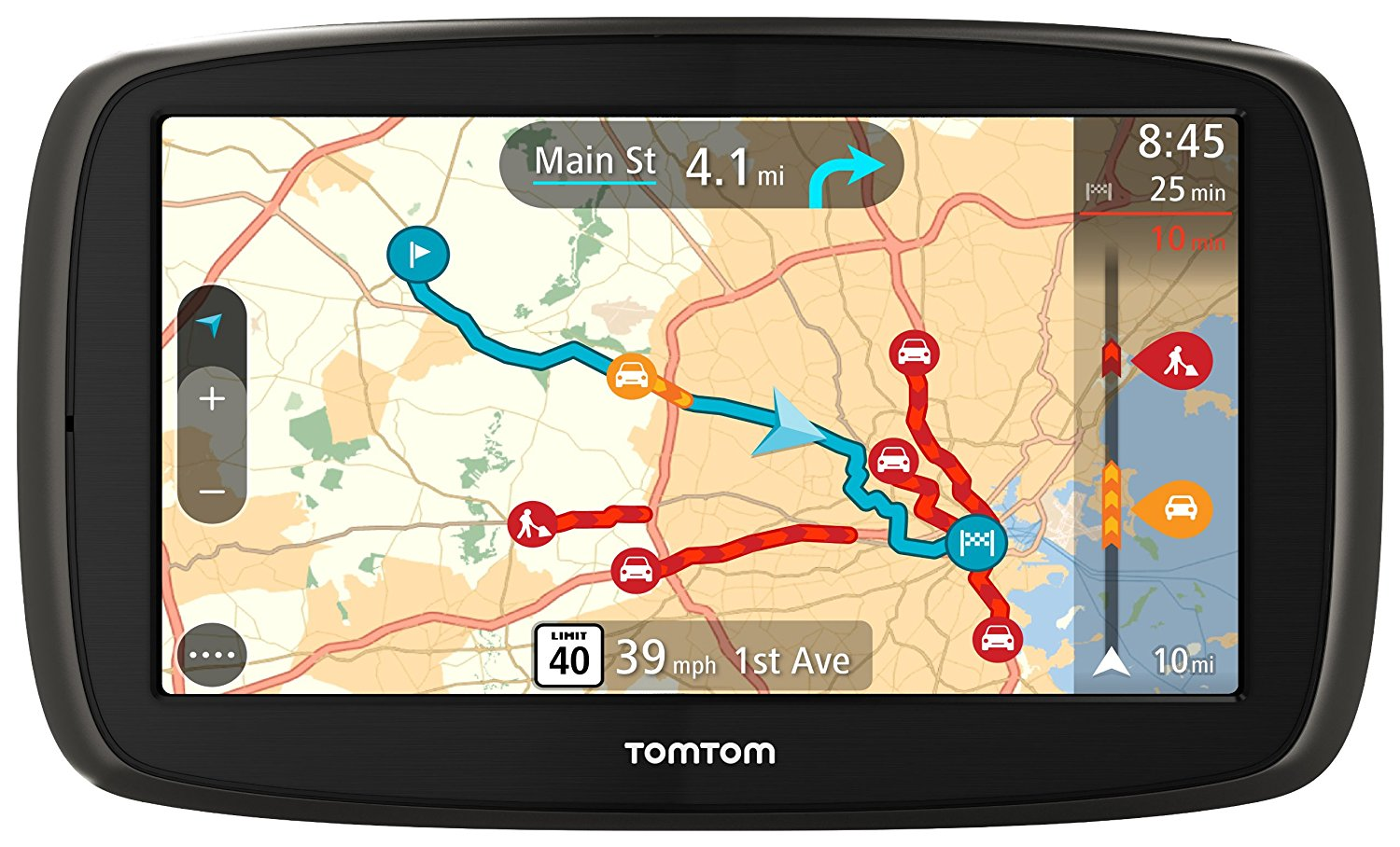 """Refurbished TomTom GO 60, 6"""" Portable Vehicle GPS w  Lane Assist and Lifetime Maps 1FC6.019.01 by TomTom"""