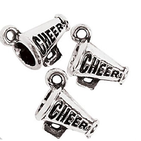 Lot of 12 Metal Cheerleader Charms Party Favors, Chamrs measure 12 mm x 14 mm By Fun Express