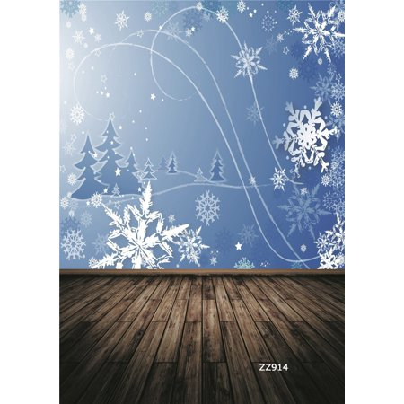 HelloDecor Polyster 5x7ft Snowflake Christmas Decor Christmas Photography Backdrops Studio Background Photo Backdrops Studio Props
