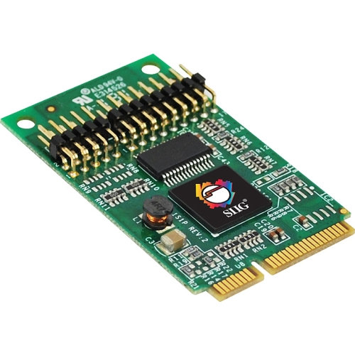 """SIIG JJ-E10111-S1 SIIG 1S1P Mini PCIe with 16950 UART - 1 x 9-pin DB-9 RS-232 Serial, 1 x 25-pin DB-25 IEEE 1284 Parallel Mini PCI Express - 1 Pack"""