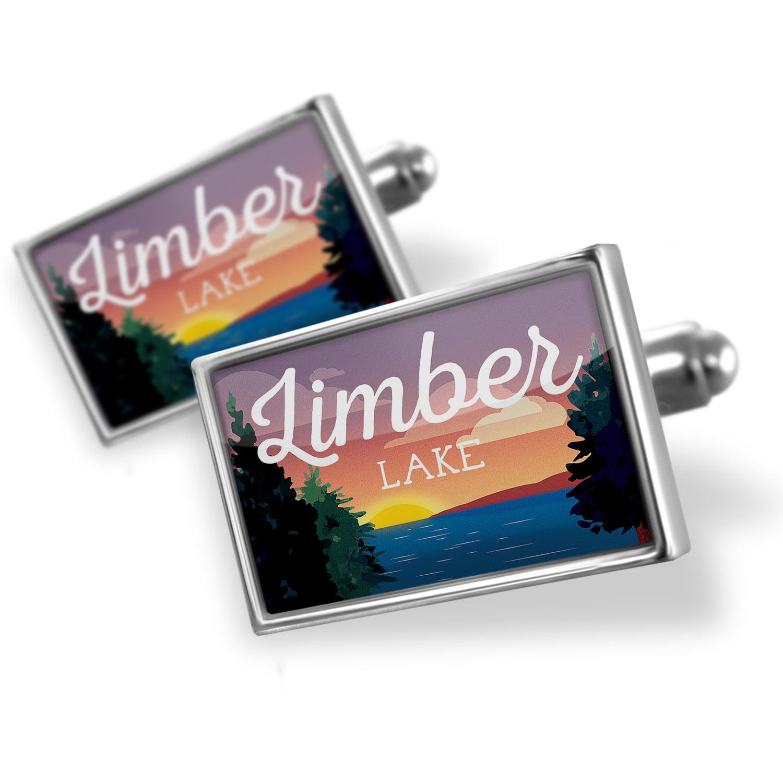 Cufflinks Lake retro design Limber Lake - NEONBLOND