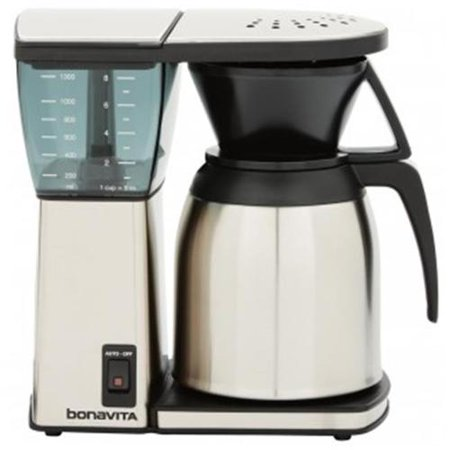 Espresso Supply BV1800SS Bonavita 8 cup Coffee Maker, Stainless Steel Lined Thermal Carafe ...
