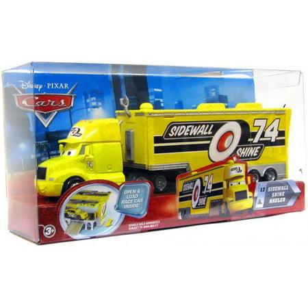 Car Movie Cars - Disney Cars Movie Haulers Sidewall Shine Hauler Diecast Car Playset