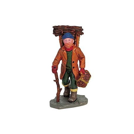 Lemax Halloween Village Clearance (2006 Gathering Kindling Christmas Village Figurine # 62287, Set of 2 By)