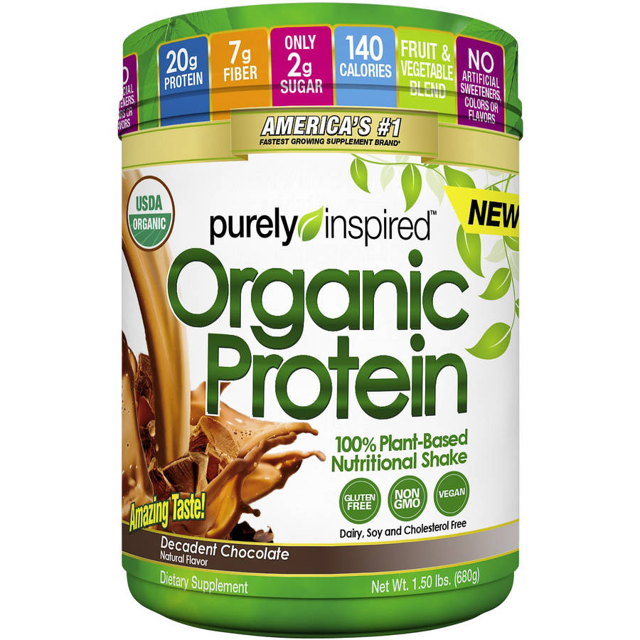 Purely Inspired Decadent Chocolate Organic Protein Shake Mix, 1.50 lbs