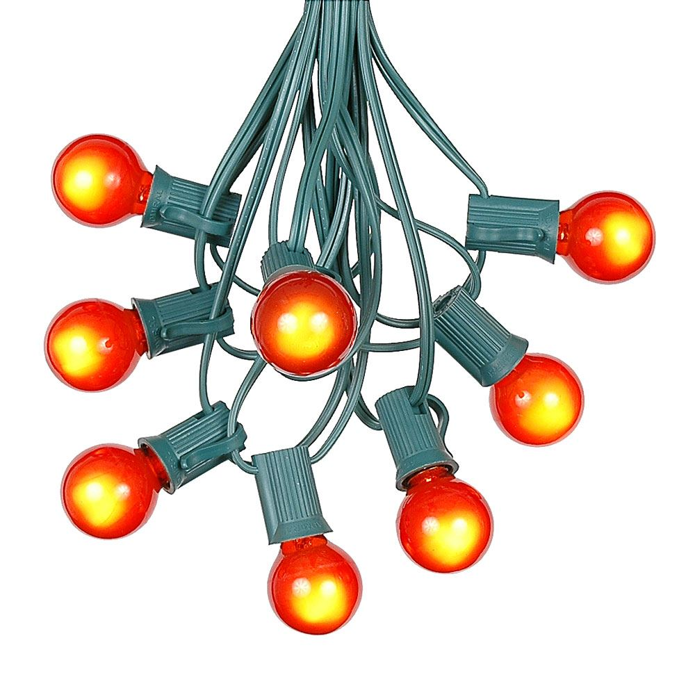 g30 patio string lights with 25 clear globe bulbs  outdoor string lights  market bistro caf hanging string lights  patio garden umbrella globe lights - green wire - 25 feet