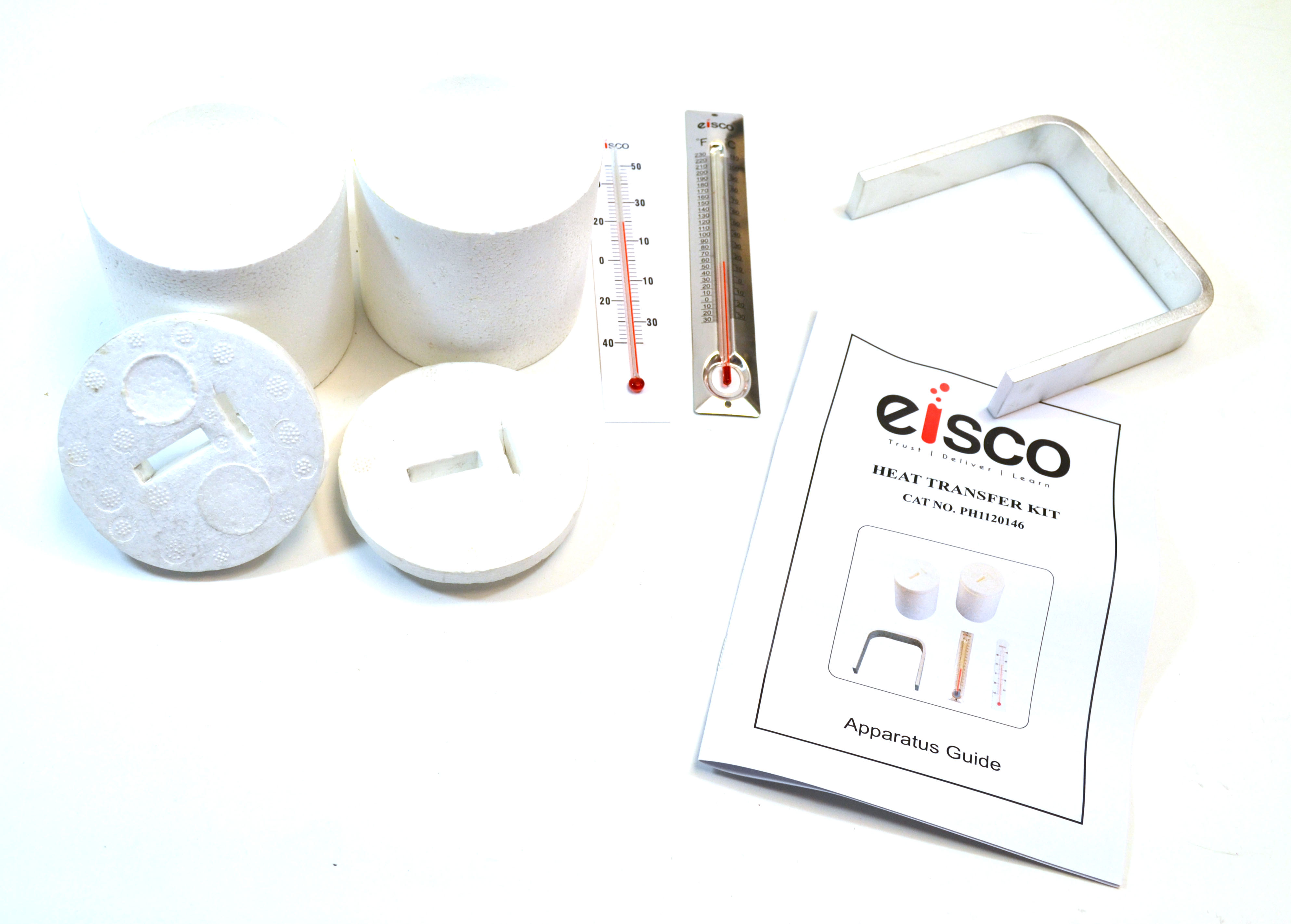 Eisco Labs Heat Transfer Kit with 2 Calorimeters with Lids, 1 Aluminum Heat Transfer Bar, and 1 Low Range... by EISCO