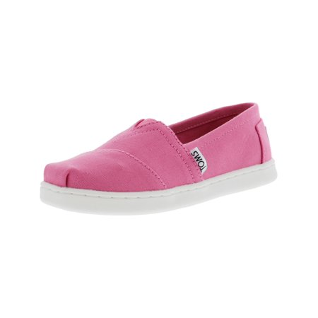Toms Girls Shoes (Toms Classic Canvas Bubblegum Pink Ankle-High Flat Shoe -)