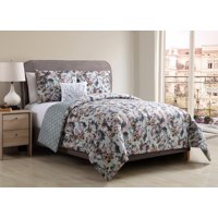 Better Homes and Gardens Floral Bouquet 4-Piece Bedding Duvet Cover Set, Shams and Decorative Pillow Included