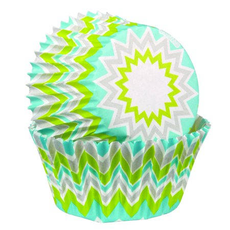 Standard Baking Cups, Lime Chevron, 75-Pack, These little cups have fun and colorful designs that will make your treats look even better By Wilton](Fun Halloween Baking Treats)
