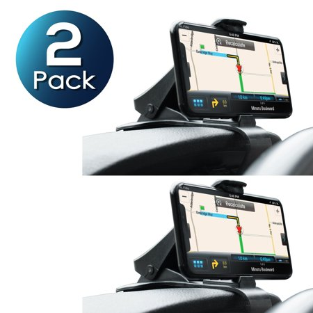 2 Pack Insten Car Dash Car Mount Dashboard Safe Driving Clip Phone Holder with One-Touch Design Universal for iPhone XS X 8 7 6 6s Plus Samsung Galaxy S9+ S9 S8 S8+ S7 Note 8