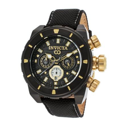 Invicta 22334 Men's Corduba Chronograph Black Nylon Black Dial Watch