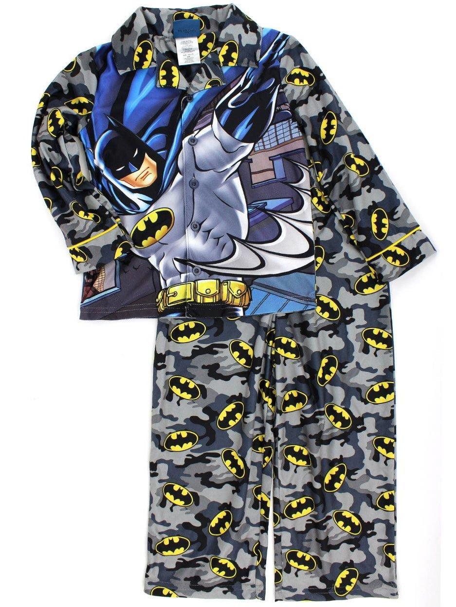 Boy/'s 2 Piece Poly Button Front Pajama Sleepwear Set SPIDERMAN NINJA TU