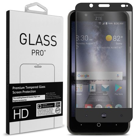 CoverON ZTE Tempo X / Blade Vantage / Avid 4 Tempered Glass Screen Protector - InvisiGuard Series Full Coverage 9H with Faceplate (Case Friendly)