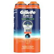 Gillette Fusion ProGlide Sensitive 2 in 1 Shave Gel, 6 oz Each, 2 pk