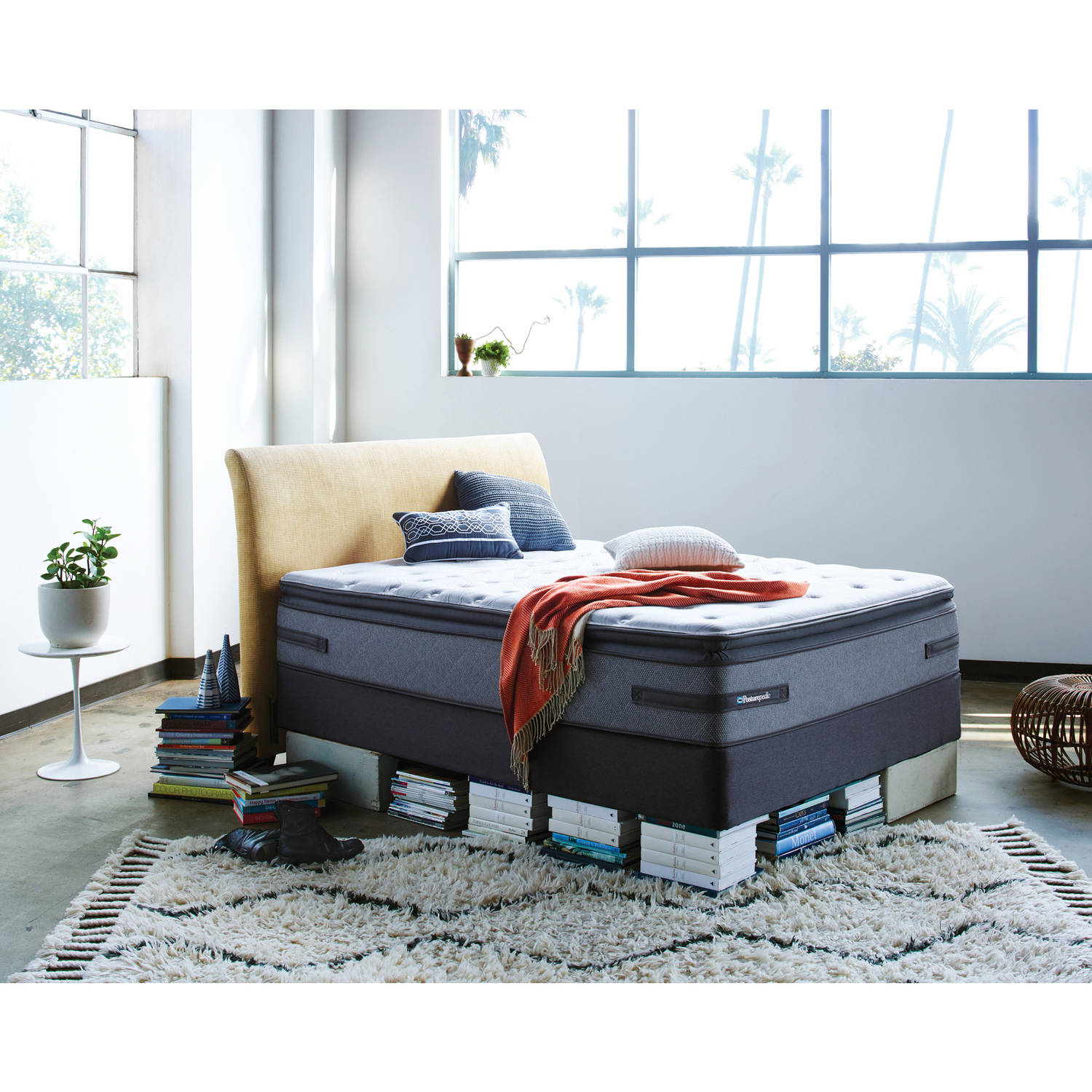 Sealy Posturepedic San Benito Plush Euro Pillowtop Mattress, Multiple Sizes