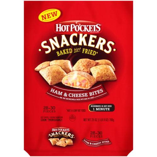 Hot Pockets Snackers Ham & Cheese Bites, 25 oz