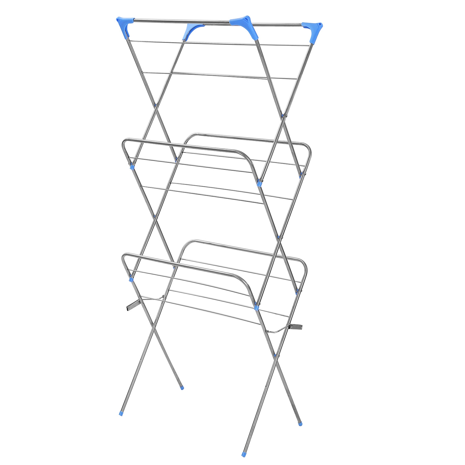 3 Tier Foldable Clothes Airer Laundry Dryer Rack Indoor Clothes Horse White
