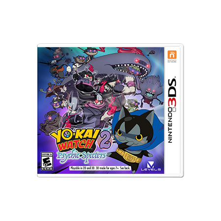 Level 5 Yo-Kai Watch 2: Psychic Specters, Nintendo, Nintendo 3DS, 045496591144
