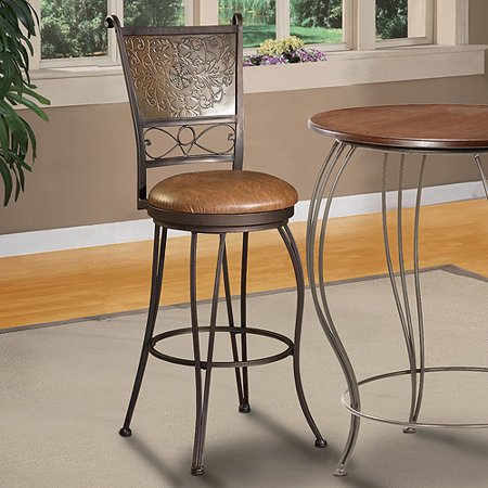 Muted Copper Stamped Back Bar Stool Bronze Walmart Com