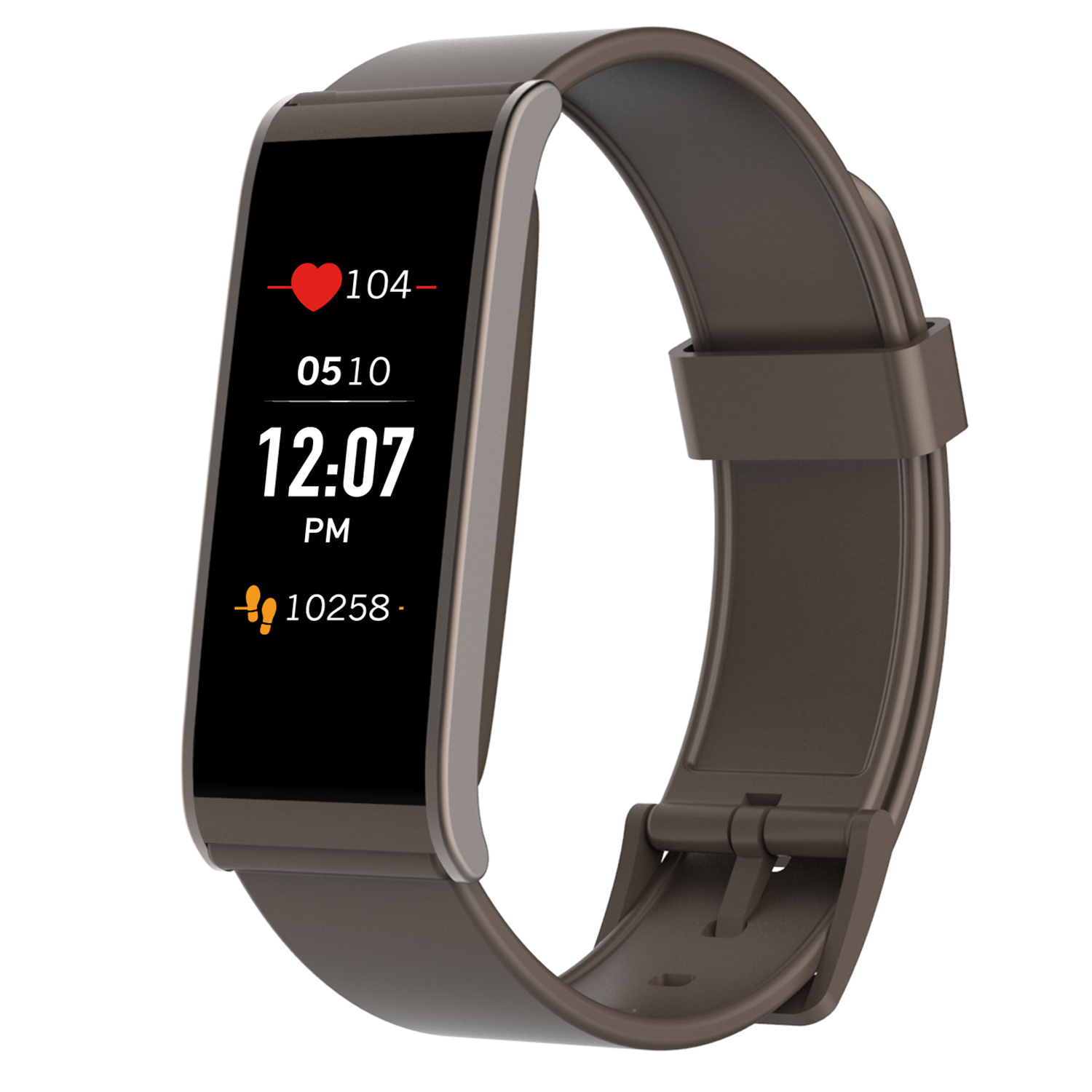 MyKronoz ZeFit4 HR Fitness Activity Tracker with Heart Rate Monitoring, Color Touchscreen & Smart Notifications - Black/Black