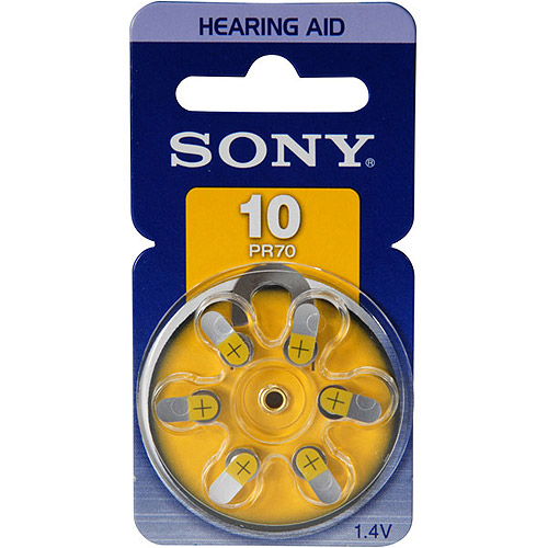 Sony PR10D6A Hearing Aid Battery, Size 10