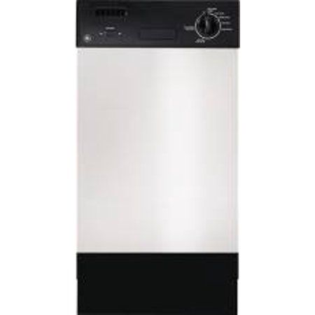 GE SPACEMAKER BUILT-IN 18-INCH DISHWASHER WITH FRONT CONTROLS, STAINLESS STEEL, 7 CYCLES / 12 OPTION