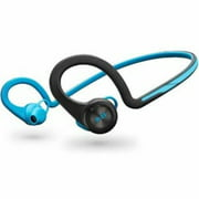 Poly - Plantronics Backbeat Fit - Earphones with mic - ear-bud - behind-the-neck mount - Bluetooth - wireless - electric blue