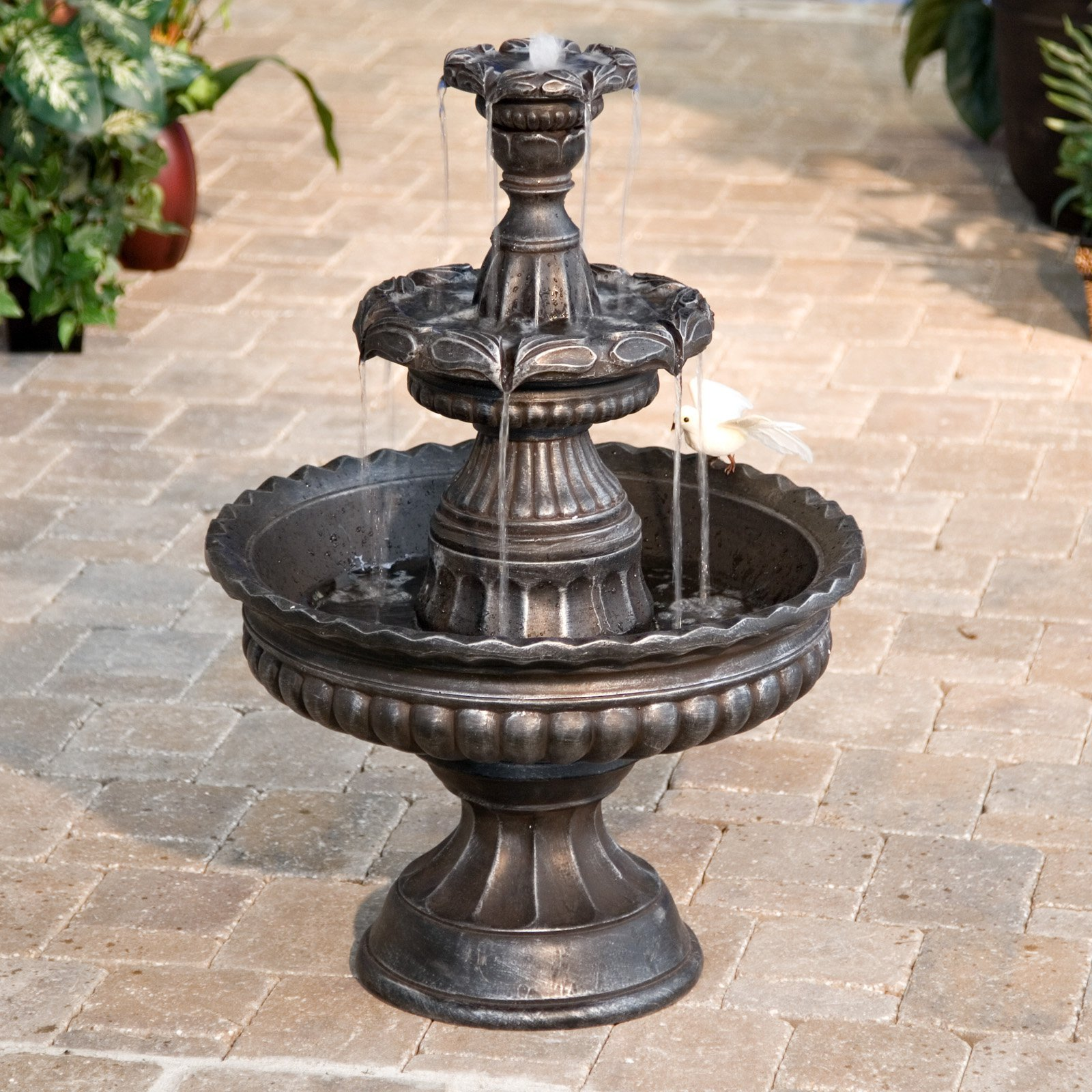 Garden Classic 3-Tier Outdoor Fountain by LB International Inc