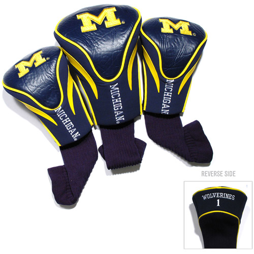 Team Golf NCAA Michigan 3 Pack Contour Head Covers