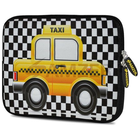 Universal 7 75 Inch Soft Neoprene Sleeve Case Pouch For Tablet  Ebook  Kindle   Yellow Taxi Checks