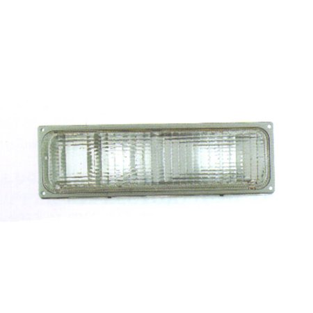 1988-1989 Chevrolet C1500 Driver Side Under Head Lamp Black Trim Parking Signal Lamp incl Dual Head Lamp