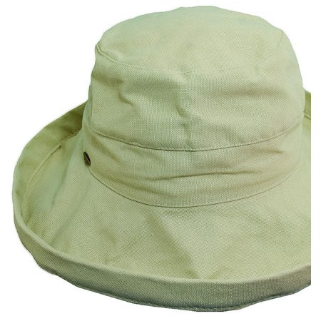 6d6a309e1f7 Kinder Caps - Kinder Caps Girl s Cotton BB Petite Sun Hat OS Natural -  Walmart.com
