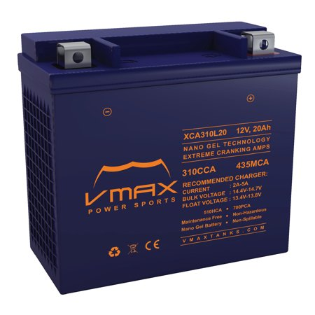 VMAX XCA310L20 ATV Battery for Bombardier Can Am 1000cc Renegade (2012-2017) 12V 20ah Heavy Duty Powersports Battery
