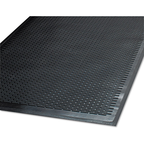 Guardian Cleanstep Outdoor Polypropylene Rubber Scraper Mat, 48 X 72, Black